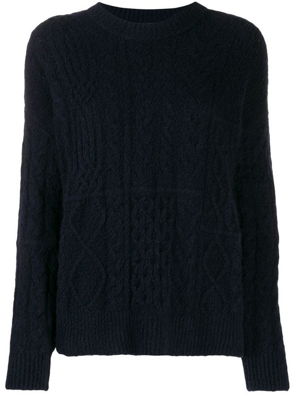 Roberto Collina cable knit jumper in blue