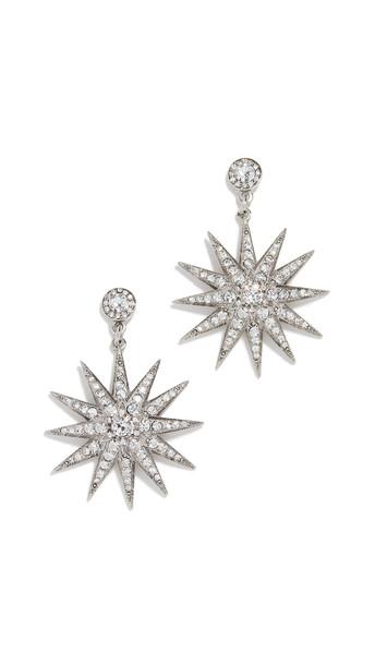 Oscar de la Renta Classic Crystal Star P Earrings