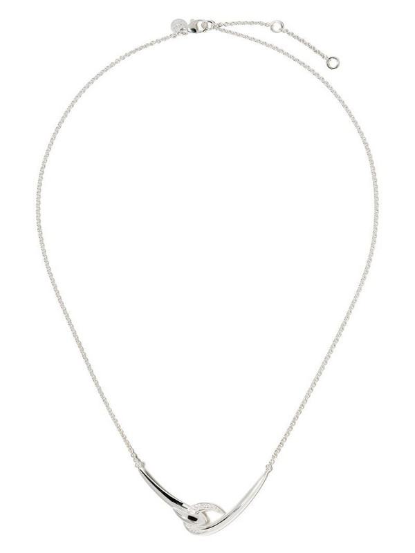 Shaun Leane Hook white diamond necklace in silver