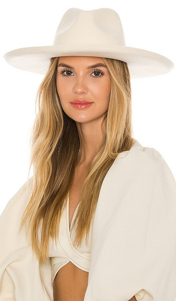 Lack of Color Melodic Fedora in White in ivory