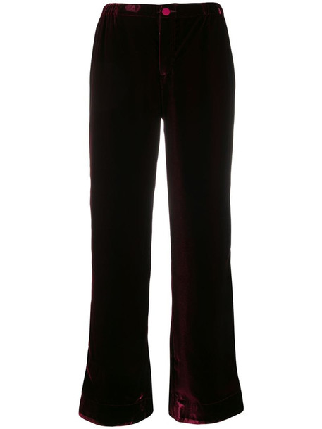 F.R.S For Restless Sleepers Bordo trousers in red