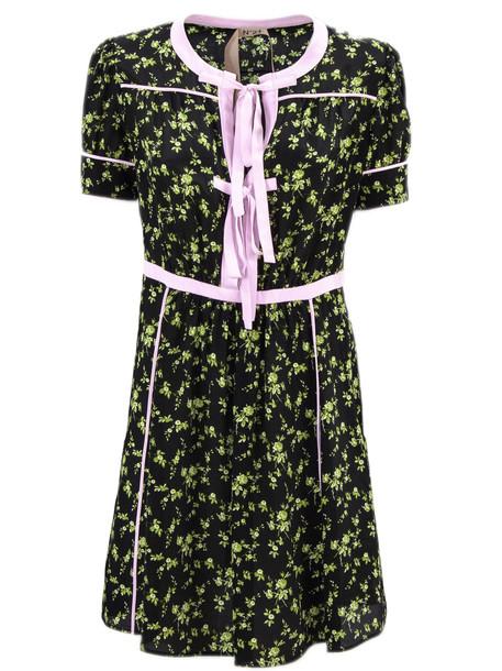 N.21 Long Dress In Black Silk