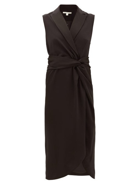 Jonathan Simkhai - Twist-waist Satin Long Dress - Womens - Black