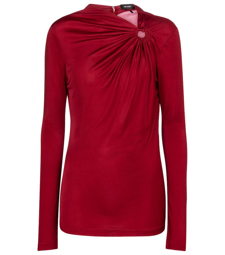 Isabel Marant Dwester jersey top in red