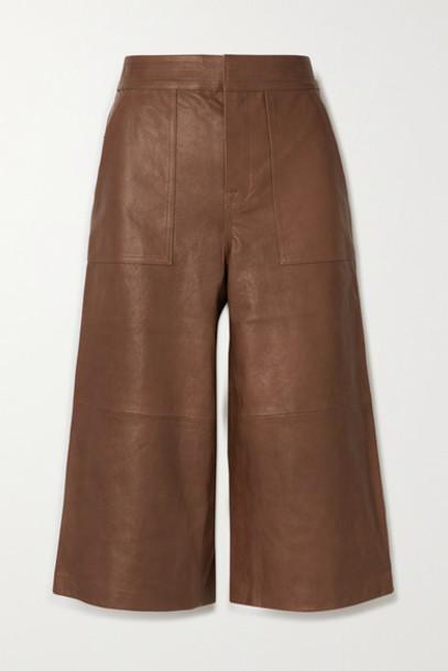 FRAME - Leather Culottes - Tan