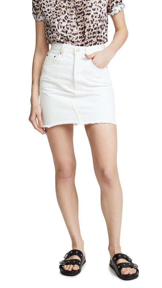 Levi's Deconstructed Skirt in white