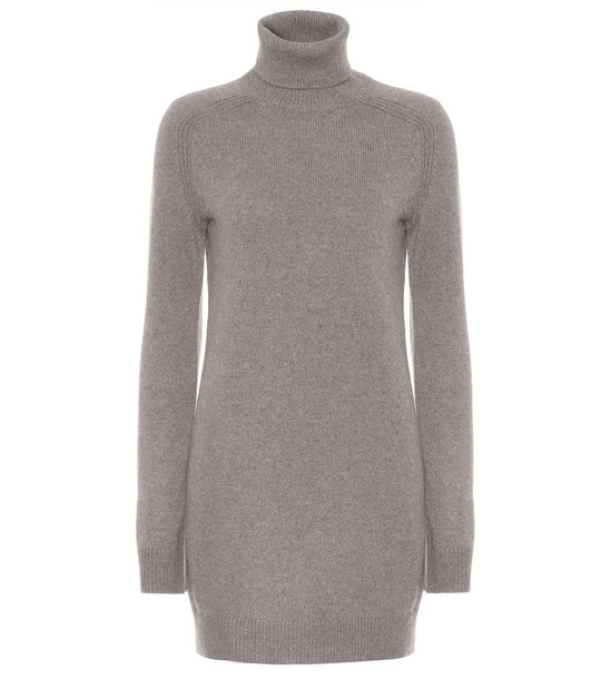 Loro Piana Exclusive to Mytheresa – Dunster cashmere minidress in grey