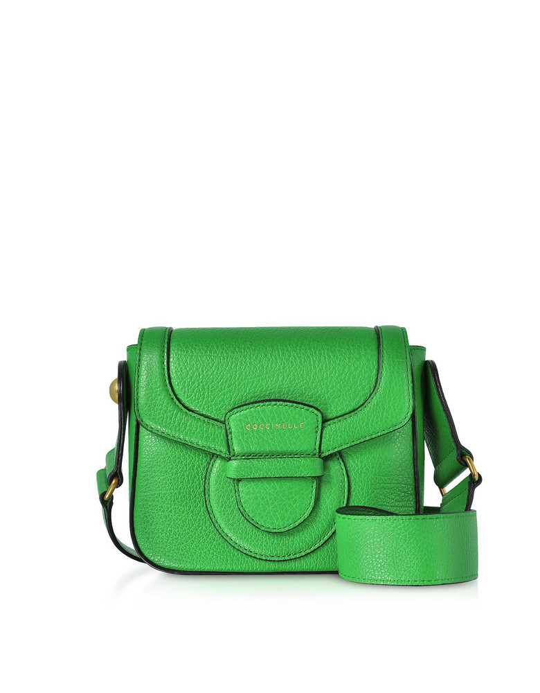 Coccinelle Vega Small Leather Shoulder Bag in green