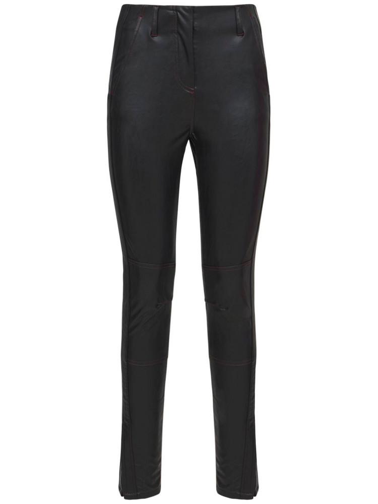 KOCHE' Faux Leather Trousers in black