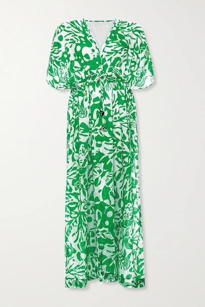 ERES - Crayfish Printed Cotton-voile Kaftan - Green