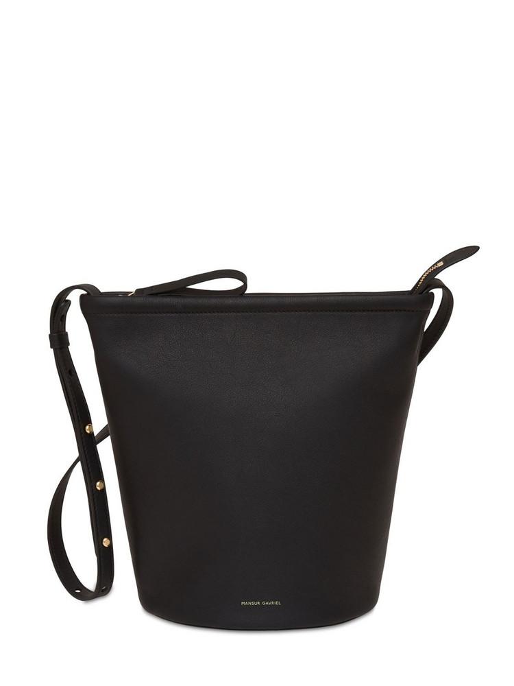MANSUR GAVRIEL Zip Leather Bucket Bag in black