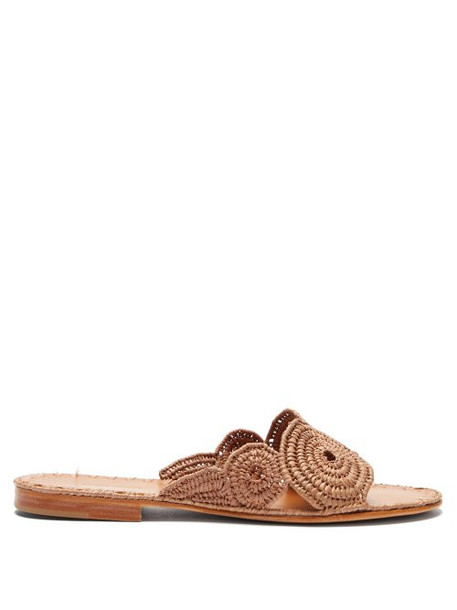 Carrie Forbes - Miringi Raffia Slides - Womens - Tan