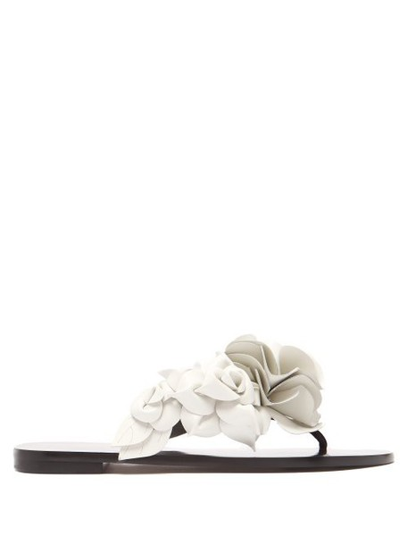 Sophia Webster - Jumbo Lilico Flower Appliqué Sandals - Womens - Black White
