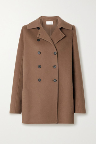 The Row - Saku Double-breasted Cashmere Coat - Light brown