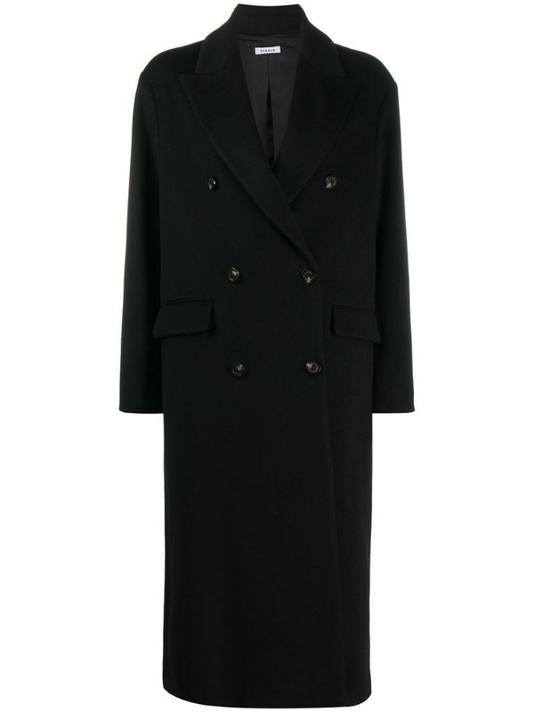 P.A.R.O.S.H. oversized double-breasted coat in black