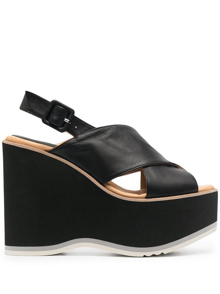 Paloma Barceló Paloma Barceló sling-back wedge sandals - Black