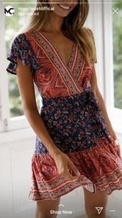 dress,colour print