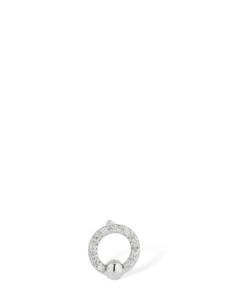 DELFINA DELETTREZ Small 2-in-1 Diamond Mono Earring in silver