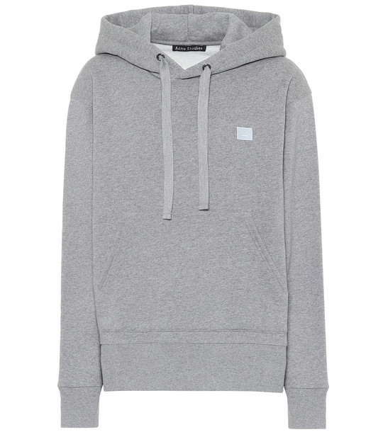 Acne Studios Ferris Face cotton hoodie in grey