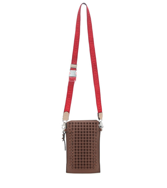 Christian Louboutin Loubilab Phone Pouch crossbody bag in brown