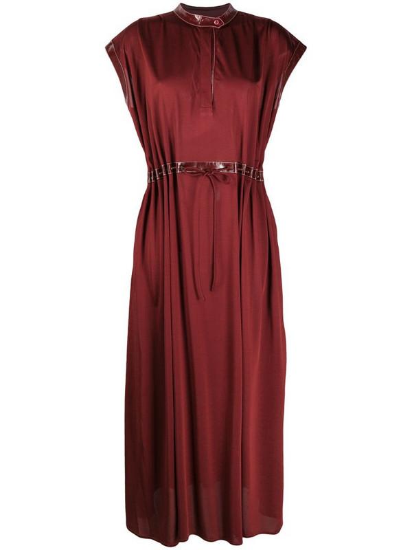 Sies Marjan contrast trim dress in red