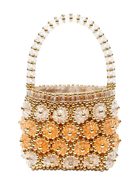 SHRIMPS Shelly Beaded Top Handle Bag in gold