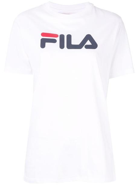 Fila printed logo T-shirt in white