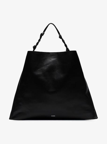 Jil Sander Tangle shoulder bag in black