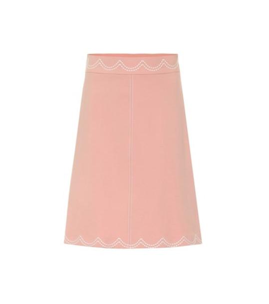 REDValentino Crêpe skirt in pink