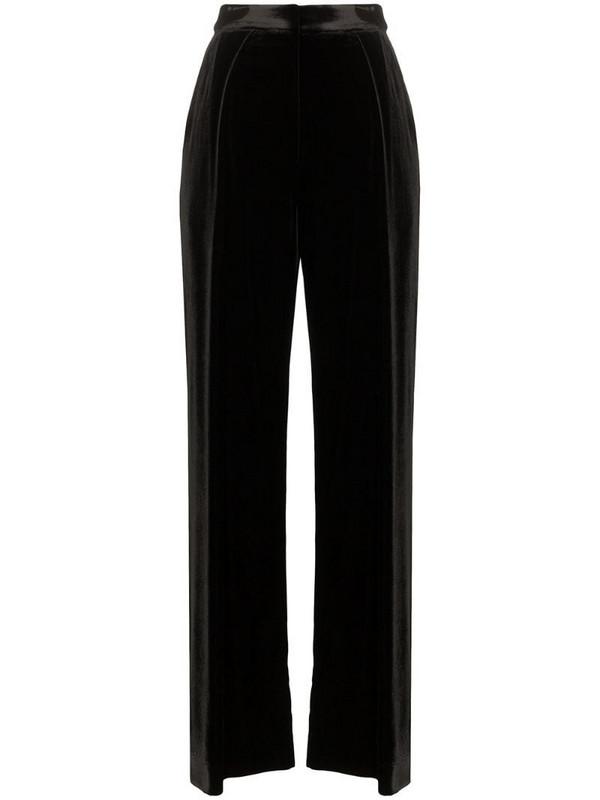 Michael Lo Sordo high-waist wide-leg trousers in black