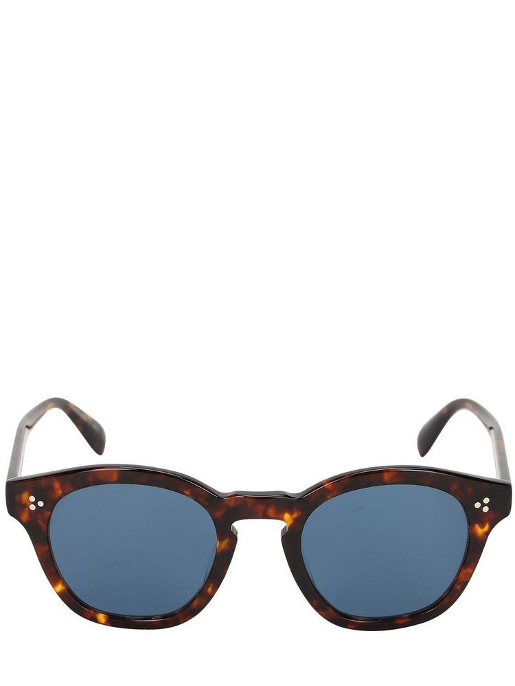 OLIVER PEOPLES Boudreau L.a Round Acetate Sunglasses in blue