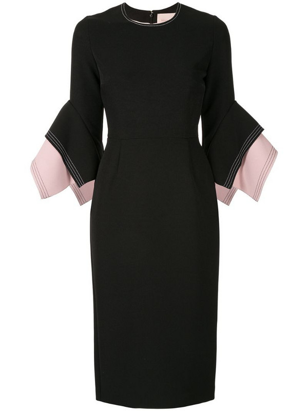 Roksanda layered sleeve dress in black