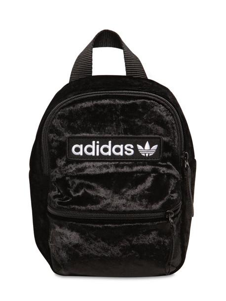 ADIDAS ORIGINALS Bp Mini Techno Velvet Backpack in black