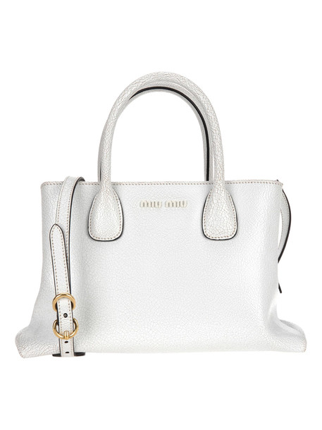 Miu Miu Top Handle Bag in white