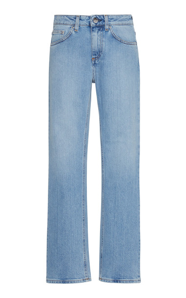 Toteme Straight Cropped Mid-Rise Jeans Size: 24