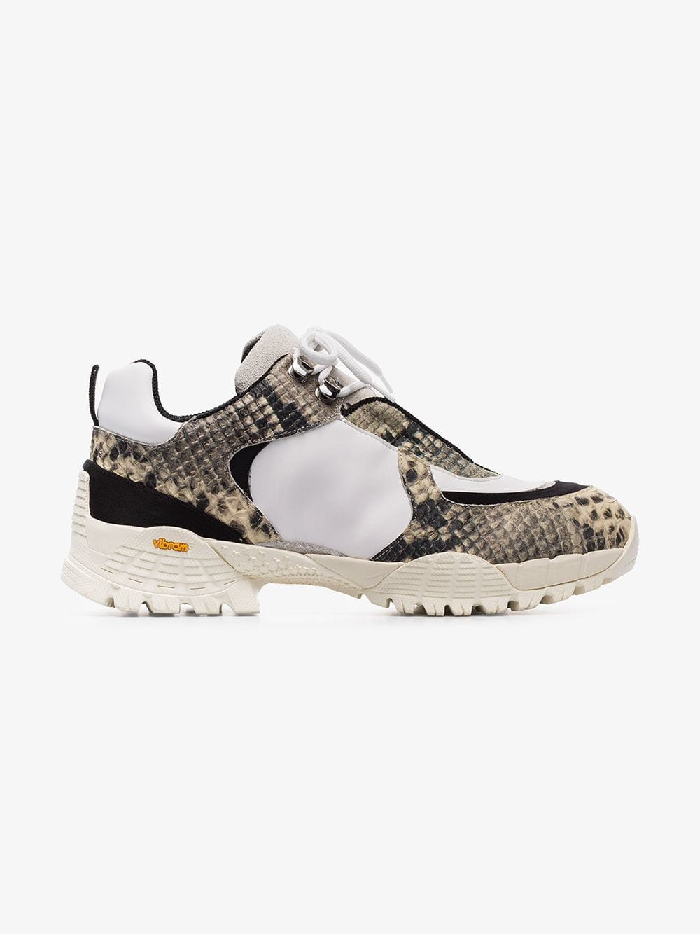 1017 ALYX 9SM snake-effect leather panelled sneakers in white