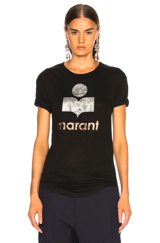 Isabel Marant Etoile Koldi Tee in Black | FWRD