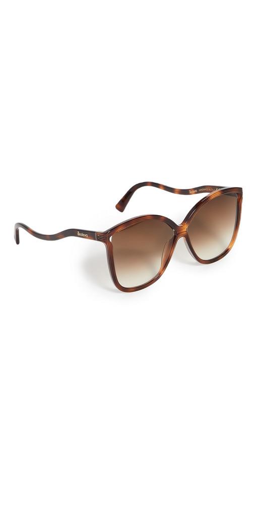 Illesteva Nancy Havana Sunglasses in brown