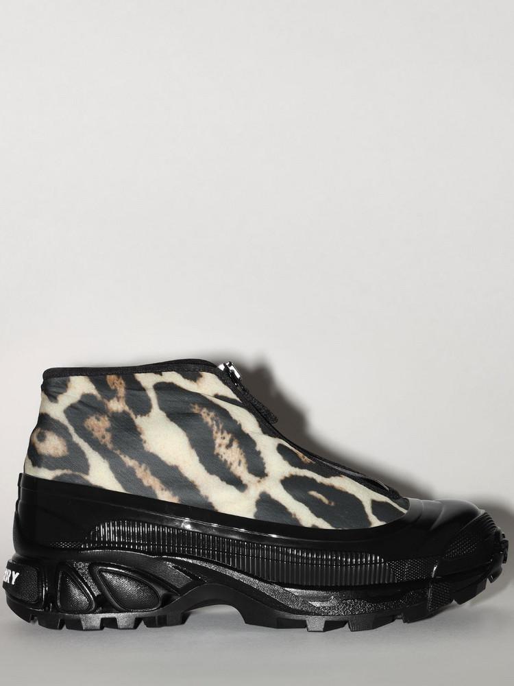 BURBERRY 40mm Leopard Print Nylon Sneakers