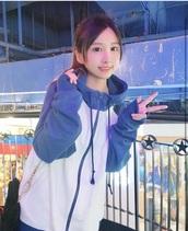 jacket,blue jacket,anime,cosplay,kawaii,asian,asian fashion,harajuku,cute