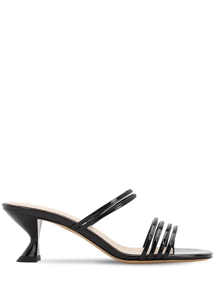 KALDA 45mm Patent Leather Sandals in black