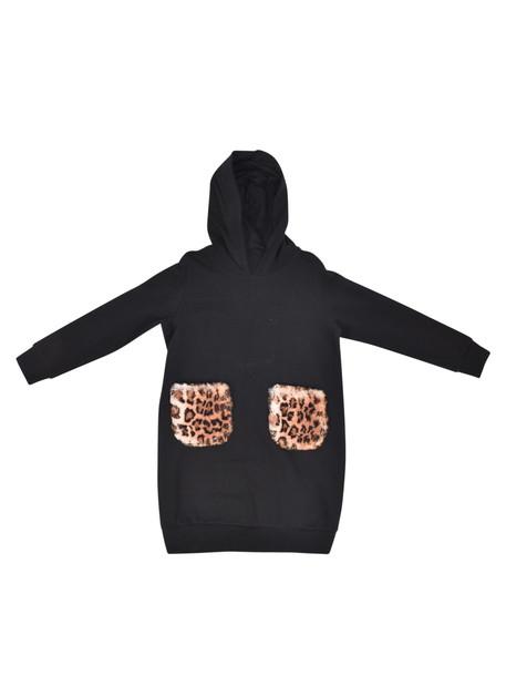 Il Gufo Leopard Print Detail Hoodie