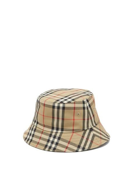Burberry - Vintage-check Cotton-blend Bucket Hat - Womens - Beige Multi