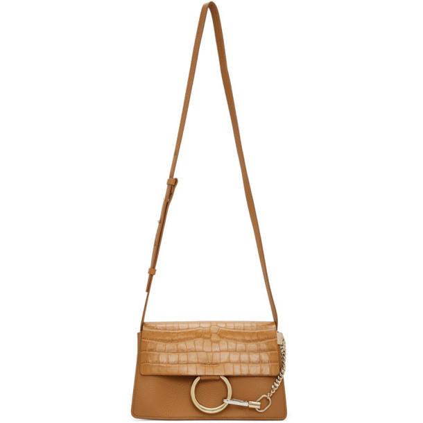 Chloe Brown Croc Small Faye Day Bag