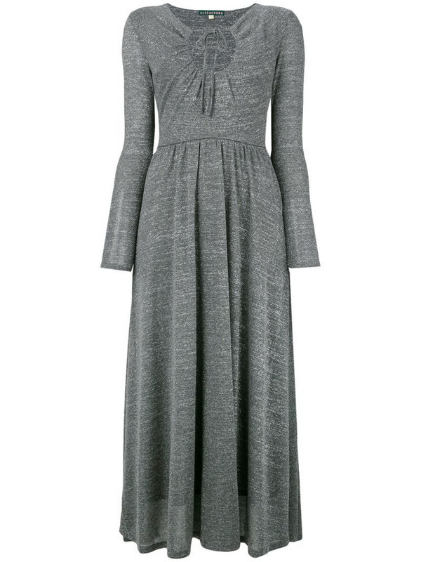 Alexa Chung key-hole flared dress in grey