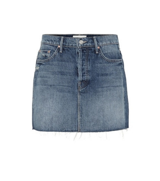 Mother The Vagabond denim miniskirt in blue