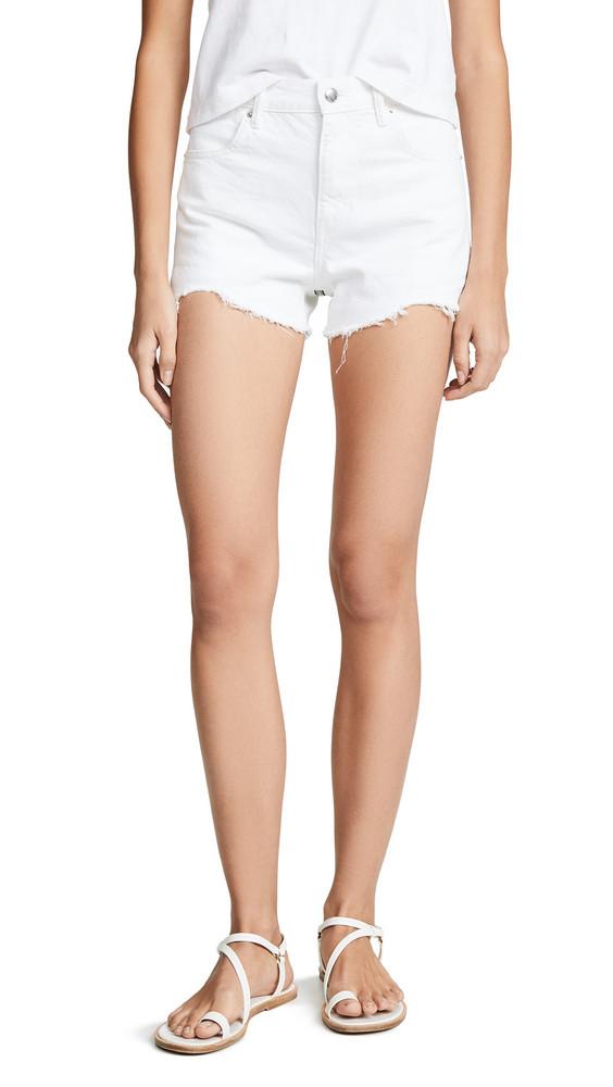Denim x Alexander Wang Bite Zip Shorts in white