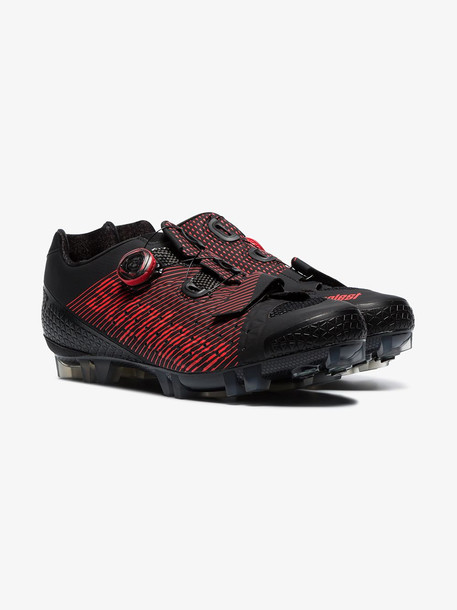 SUPLEST black and red Ergo 360 Dial cycling shoes