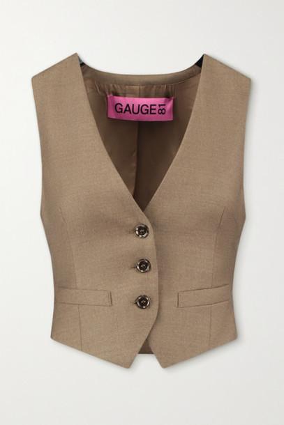 GAUGE81 - Toluca Wool And Cashmere-blend Vest - Sand