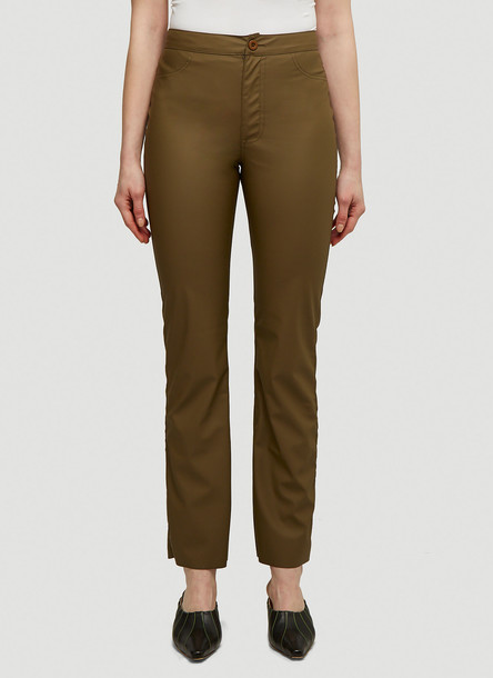 Maisie Wilen Straight Leg Pants in Green size XS
